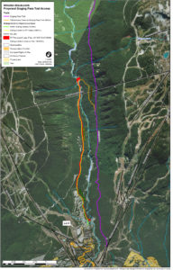 Proposed map of Singing Pass Trail access